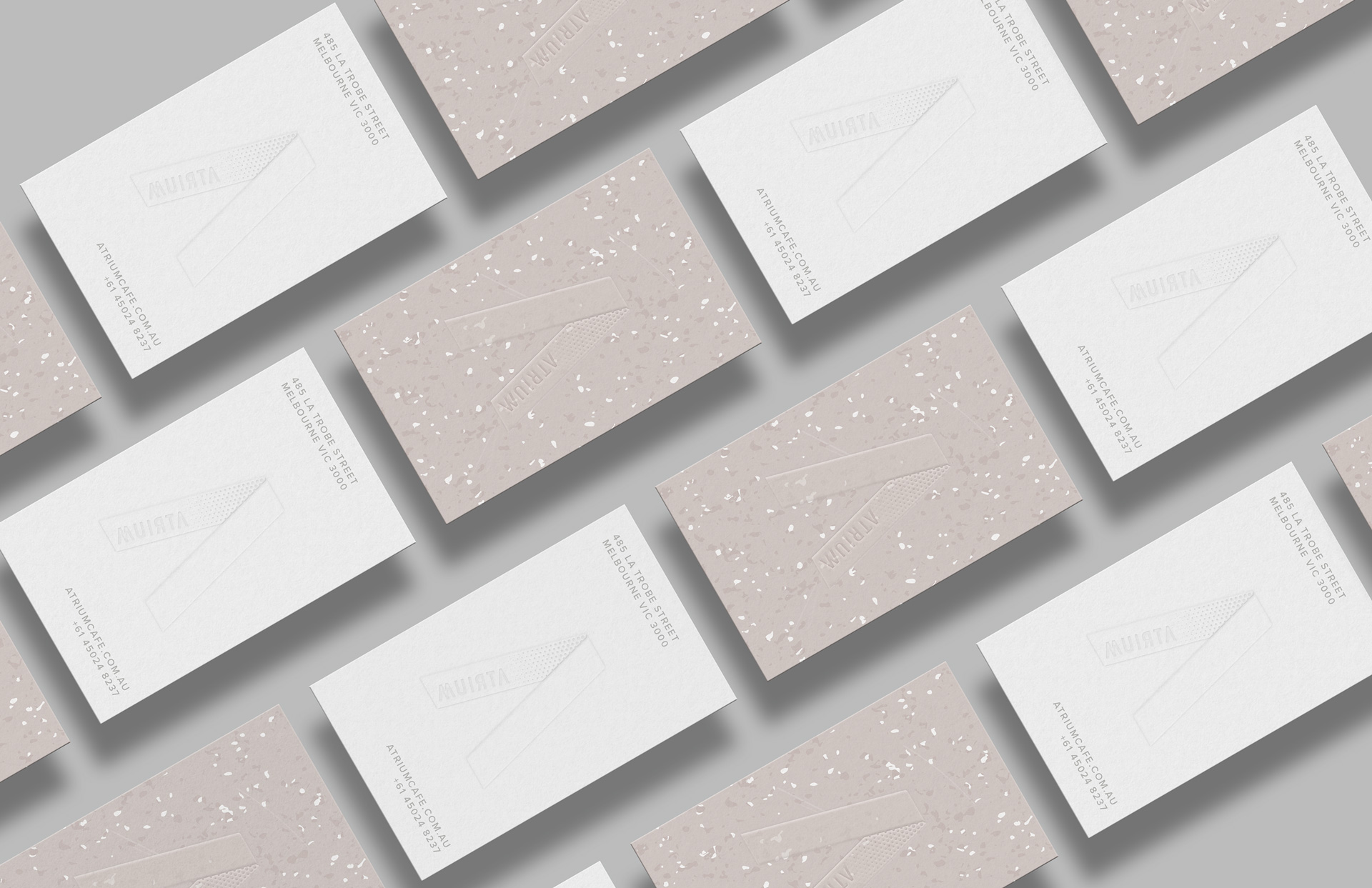 Atrium business cards