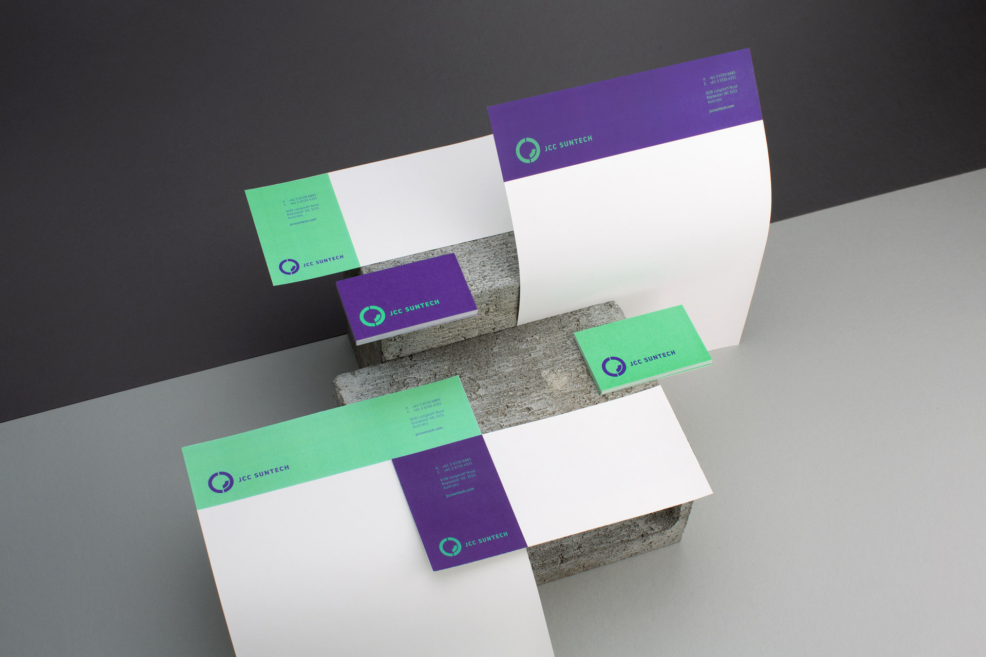 Stationery set, business card, letterhead, with compliment design